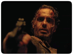 Rick shoots Pete light The Walking Dead Conquer