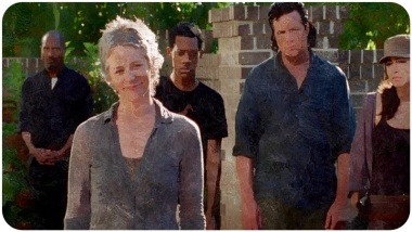silk Carol smiles Remember The Walking Dead