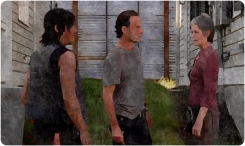 silk Daryl Rick Carol check out houses Remember The Walking Dead