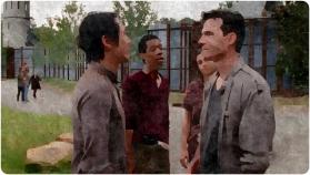 Glenn Aiden Fight Remember The Walking Dead