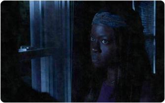 silk RIck Michonne night Remember The Walking Dead