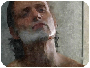 silk Rick Shaves the beard Remember The Walking Dead