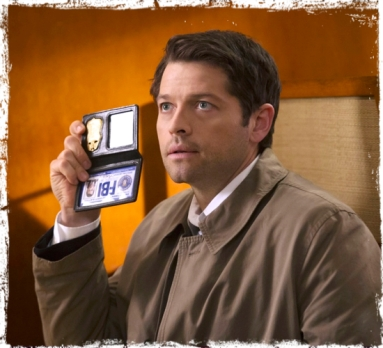 Castiel FBI Badge Supernatural Book of the Damned