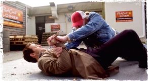 Castiel fighting Supernatural Book of the Damned