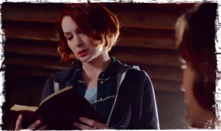 Charlie reads code Supernatural Book of the Damned