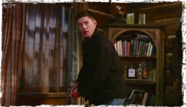 Dean with gun Supernatural Book of the Damned
