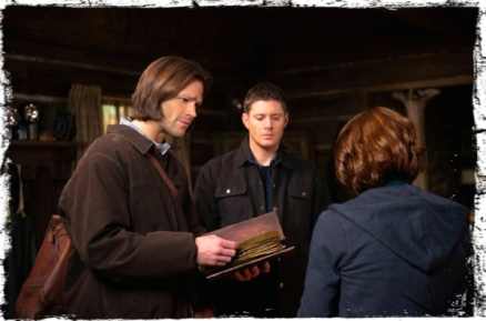 Sam book Dean Charlie Supernatural Book of the Damned