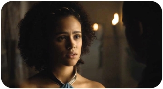 Missandei has lots of questions for Gray Worm