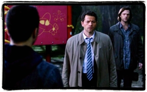 Cas and Sam at Heaven portal Supernatural Inside Man