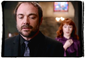 Crowley is suspicious of Rowena