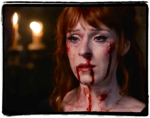 Rowena puts on a bloody show for Crowley