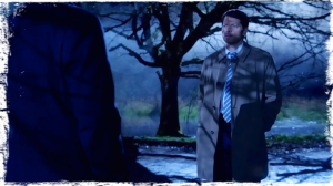 gr Cas calls Crowley shadows Supernatural Brother's Keeper