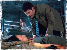 Castiel checks victim Supernatural Angel Heart