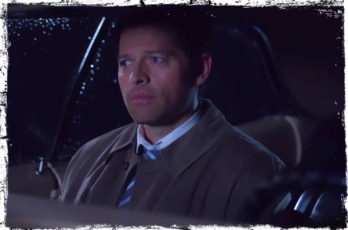Castiel in Impala Supernatural Angel Heart