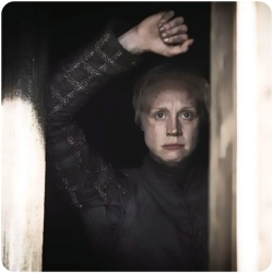 Brienne of Tarth watches Game of Thrones Kill the Boy