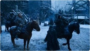 John leaves Game of Thrones The Gift