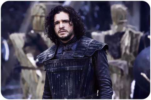 Jon Snow figures in back Game of Thrones Hardhome