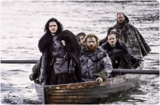 Jon Tormund Eddison arrive Game of Thrones Hardhome