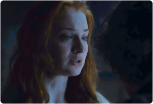 Sansa crying Game of Thrones The Gift