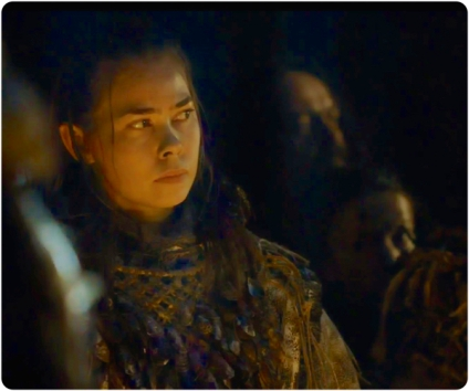 Wilding Cheiftainess at fire Game of Thrones Hardhome