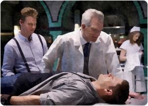 Doctor Dean table Supernatural The Prisoner