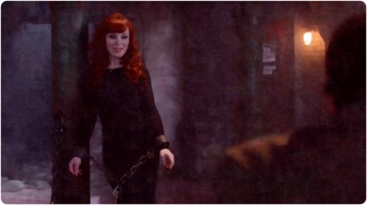 Rowena chains smile Supernatural The Prisoner