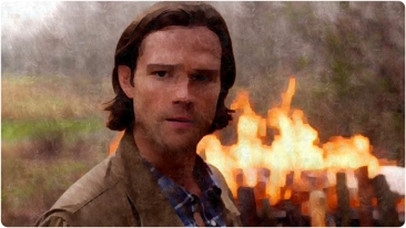 Sam sad fire Supernatural The Prisoner