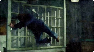 Sam thrown window Supernatural The Prisoner