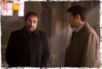 Crowley Cas look Supernatural Brother's Keeper