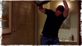 Dean throws tv Supernatural Brother's Keeper