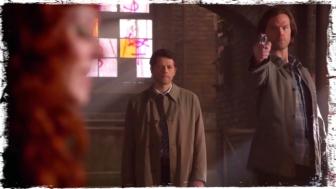 Sam gun Rowena Cas Supernatural Brother's Keeper
