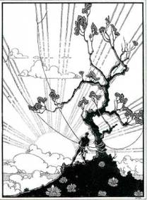 Image: Maui Snaring the Sun, pen and ink drawing by Arman Manookian, circa 1927, Honolulu Academy of Arts.