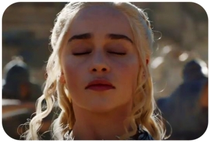 Daenerys closes eyes Game of Thrones Dance of Dragons