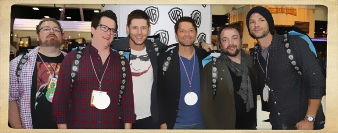 Comic Con Supernatural autograph table