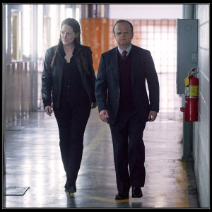 Pam and David Pilcher Wayward Pines The Friendliest Place on Earth