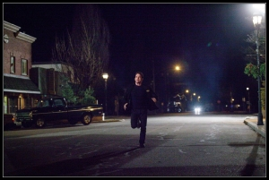Ethan running Wayward Pines Betrayal