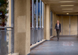 Guidance counselor Madison Clark (Kim Dickens) at school. Photo by Justin Lubin/AMC