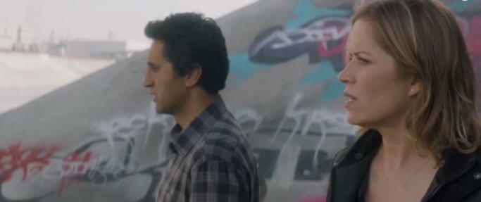 Madison Clark (Kim Dickens) and Travis Manawa (Cliff Curtis) Fear the Walking Dead