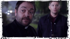 Crowley Dean outside Supernatural Out of the Darkness Into the Fire