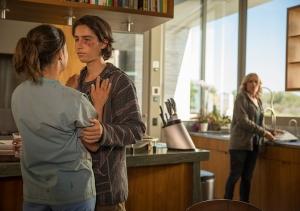 Liza Ortiz (Elizabeth Rodriguez), Christopher Manawa (Lorenzo James Henrie) and Madison Clark (Kim Dickens) in The Good Man. Photo by Justina Mintz/AMC.