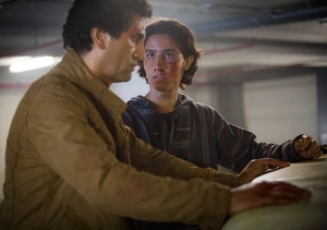 Travis Manawa (Cliff Curtis) and Christopher Manawa (Lorenzo James Henrie) in The Good Man. Photo by Justina Mintz/AMC.