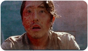Glenn blood spatter The Walking Dead Thank You