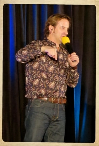Richard Speight, Jr. emceeing Salute to Supernatural Convention 2015.
