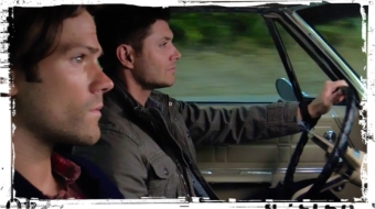 Sam Dean Winchester serious faces Supernatural Baby