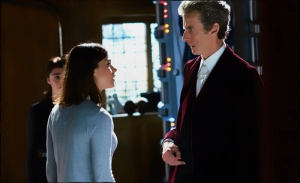 Clara Doctor purple suit Doctor Who Face the Raven