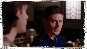 Dean looks at Sam Supernatural Our LIttle World
