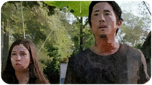 Glenn Enid look The Walking Dead Heads Up