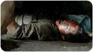 Glenn Rhee under dumpster The Walking Dead Heads Up