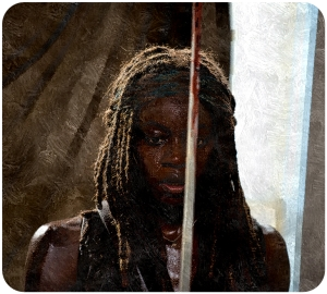 Michonne The Walking Dead Start to Finish
