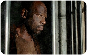 Morgan cell window The Walking Dead Heres Not Here